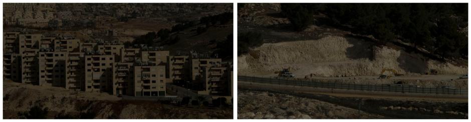 israeli settlement near bethlehem, palestine