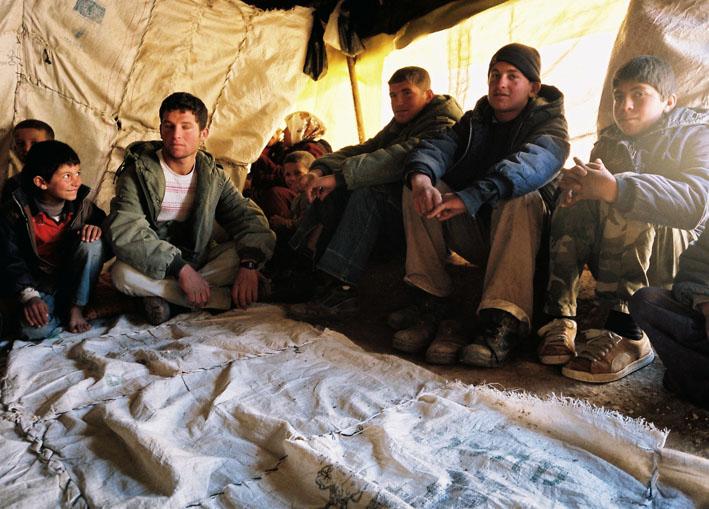 inside a tent in suseya