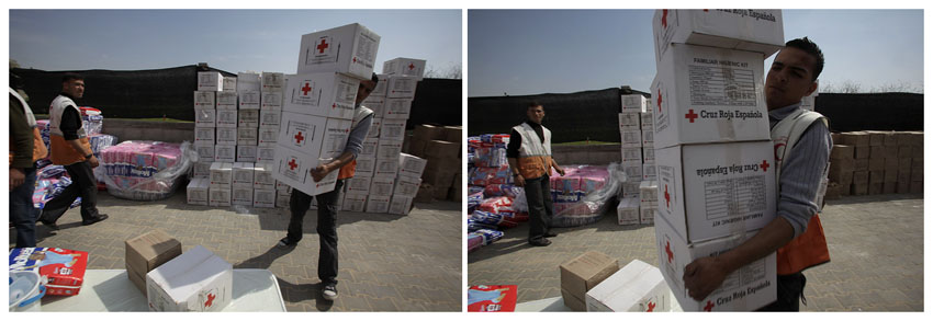 Red Cross sorting aid, Jabaliya