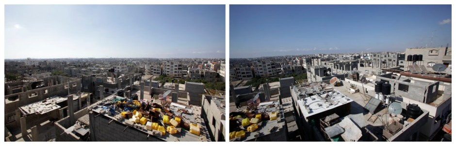 View of Gaza City from Al-Awada Hospital