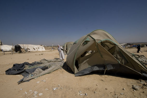 abbed rabbu area, damaged tents