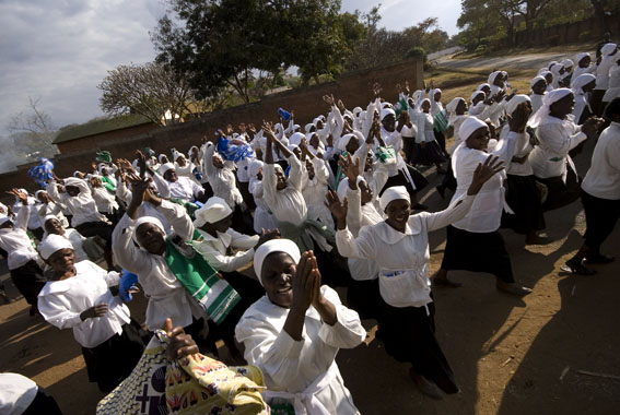 Church singers flood the streets of Lilongwe