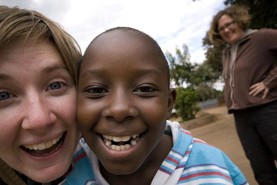 Me, Clara (Rein's daughter), and Em, Lilongwe