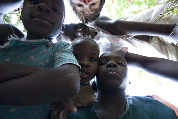 Lakeshore inhabitants and me, Lake Malawi