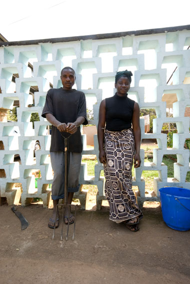 Victor and Tandewa, garden and house-workers, Lilongwe