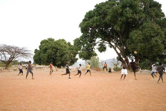 soccer match, Cobue, Niassa, Mozambique